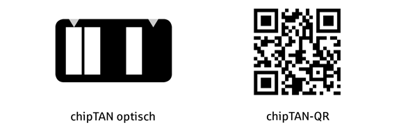 Codes chipTAN Flicker und QR