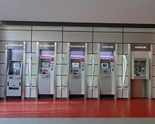 Automatenstrecke der Geschäftsstelle Lindenallee