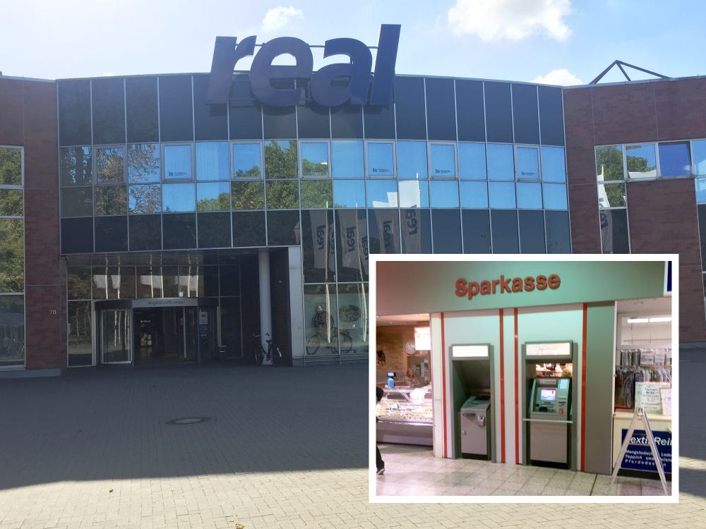 Sparkasse SB-Center real Supermarkt Dinslaken